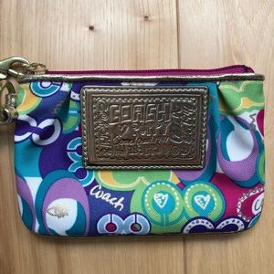 Like New Coach Poppy Wristlet
